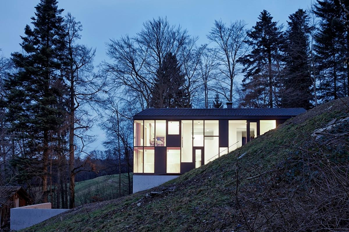 "Haus Hohlen has had a new building ""envelope"" built around it"