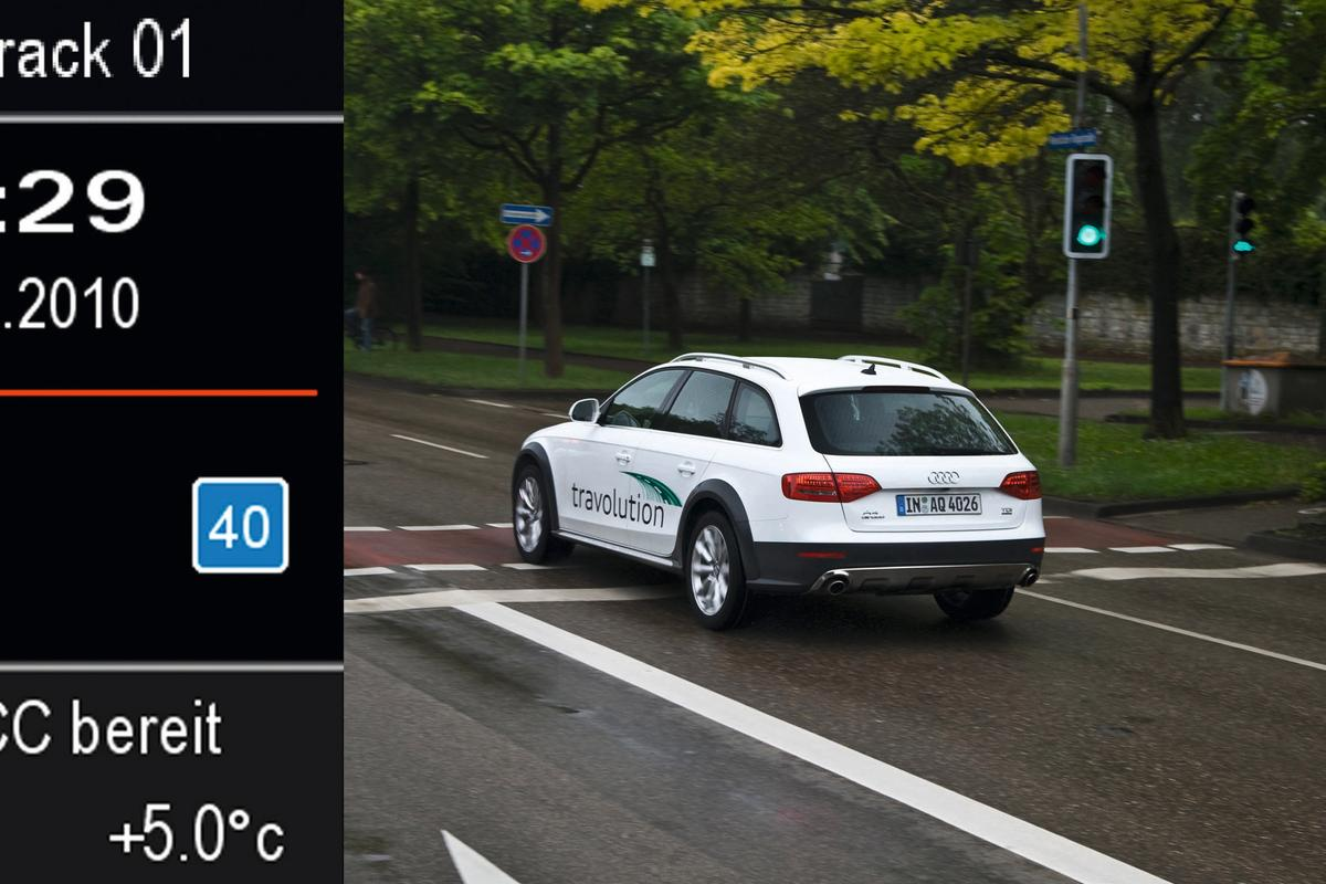 Audi's travolution project sets up a dialogue between vehicles and traffic lights