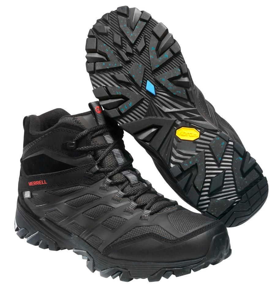 The Merrell Moab FST Ice+ Thermo Waterproof will be one of the first boots with Vibram Arctic Grip