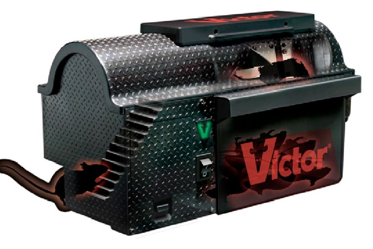 No escape ... the Victor Multi-Kill Electronic Mouse Trap humanely zaps rodents dead in less than three seconds