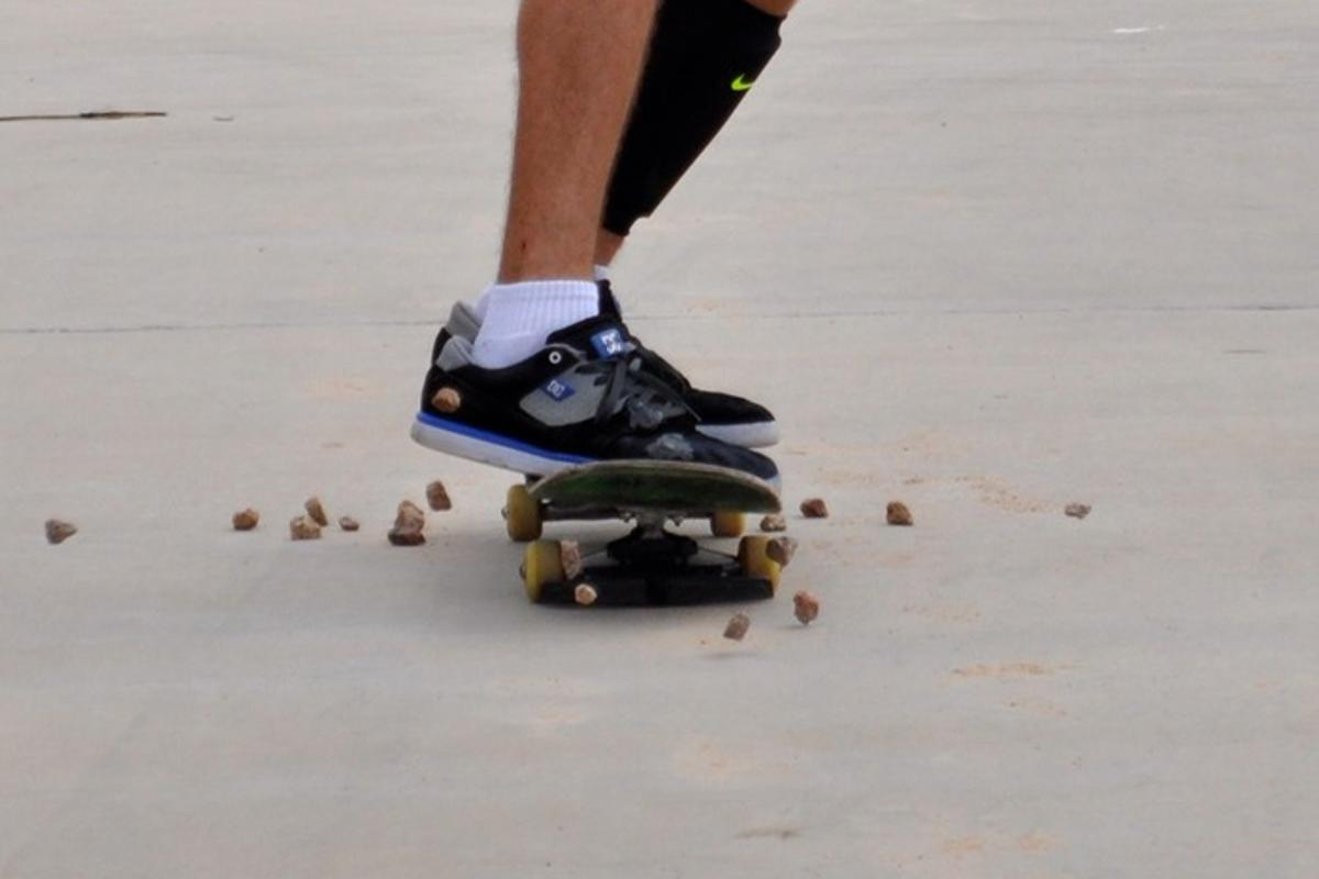 Rockochet prevents rocks from tripping up skateboarders