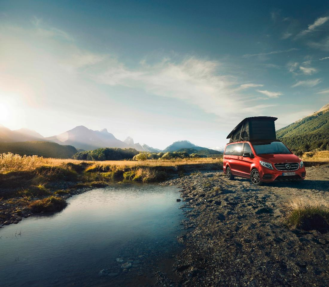 "Mercedes Marco Polo Horizon Limited Edition""Designo hyacinth red metallic"""