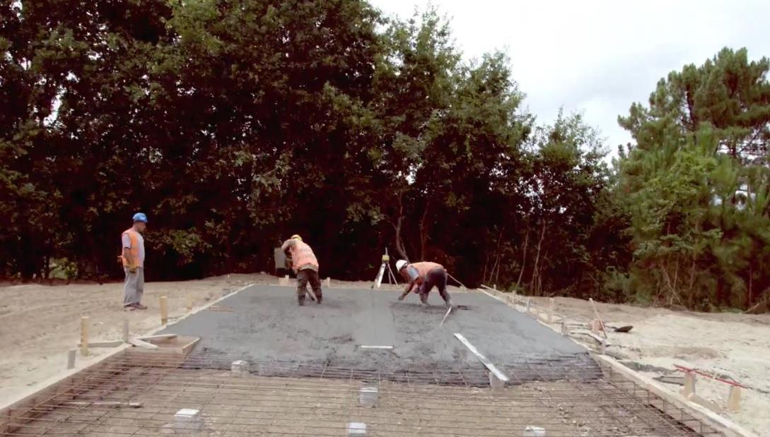 Concrete foundations getting prepared