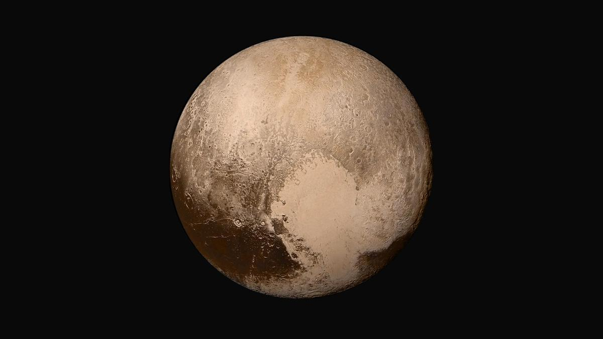 A mosaic of Pluto taken by NASA's New Horizons spacecraft in 2015