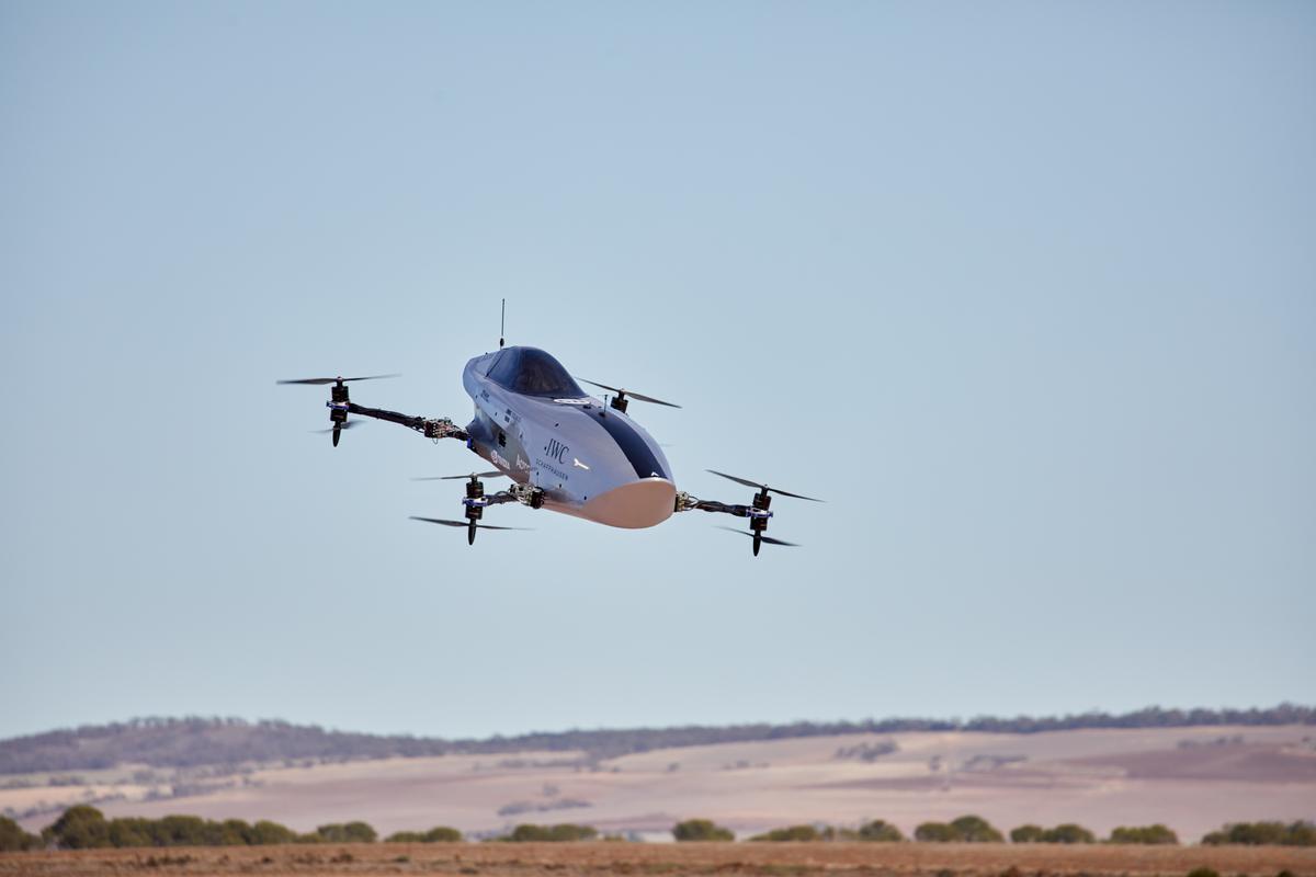 Debut flights of the Airspeeder Mk3 were recently undertaken at undisclosed desert locations in the South Australia