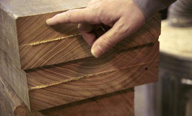 Only aged, reclaimed wood is used to make the Sounder