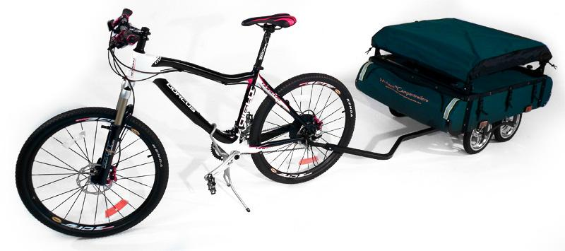 The Midget Bushtrekka from Kamp-Rite is a really rather handy-looking tow-along tent-cum-bicycle trailer for extended cycling trips