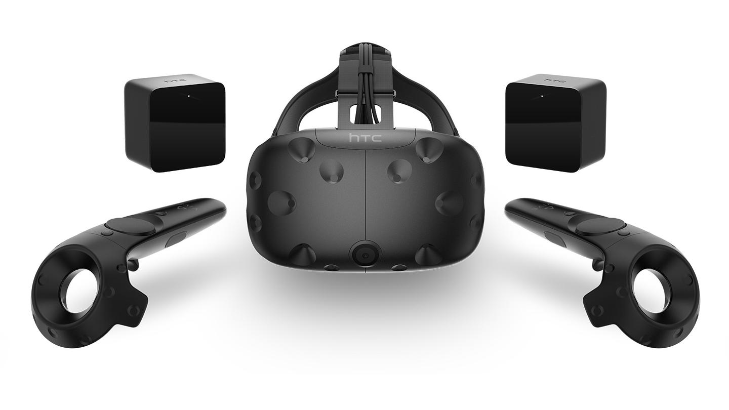 Unlike the Oculus Rift, the $799 HTC Vive includes its motion controllers in the box
