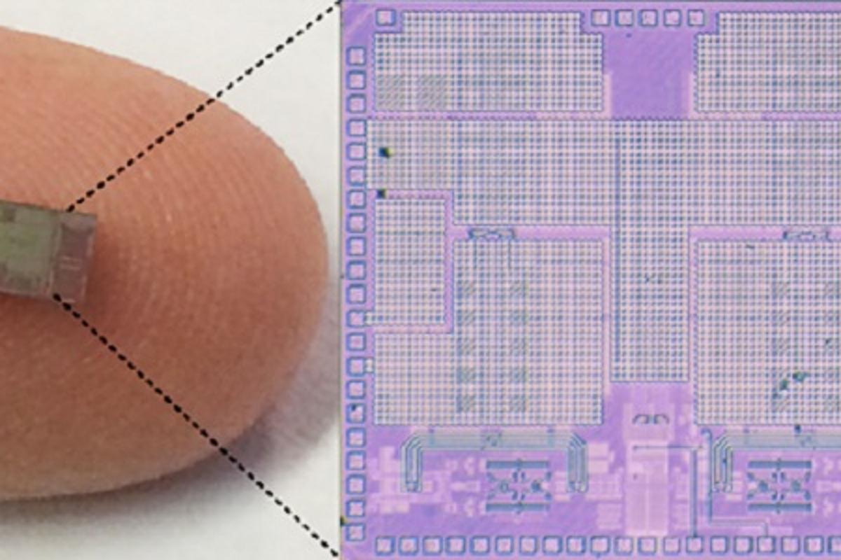 A full-duplex transceiver on an integrated circuit could realize vastly increased data exchange capacities in mobile networks (Photo: Jin Zhou, Harish Krishnaswamy/University of Columbia)