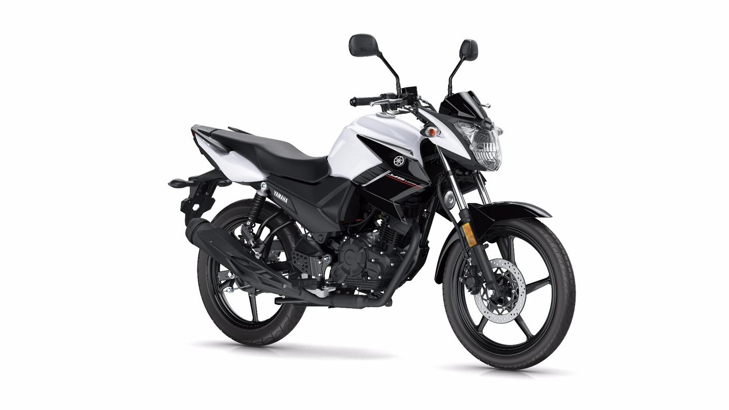 The 2017 Yamaha YS125 in Competition White color