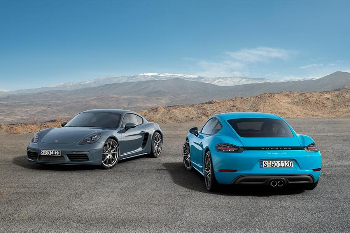 The Porsche Cayman joins the Boxster in adopting a flat-four turbo engine