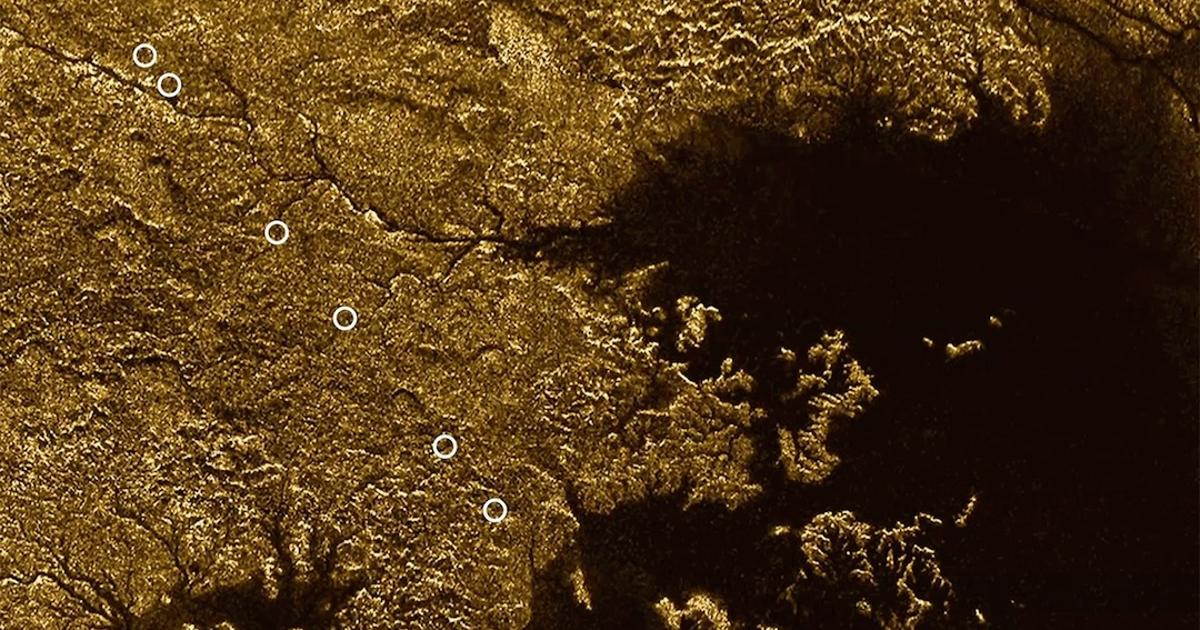 Canyons flooded with liquid methane crisscross Titan