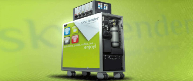 The Skytender drink-dispensing machine