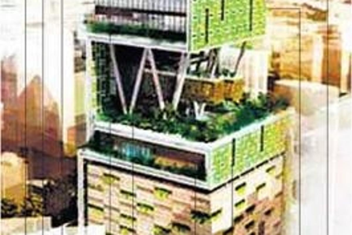 "Mukesh Ambani's ""Antilia"" residence, currently under construction. (Source: www.mumbaimirror.com)"