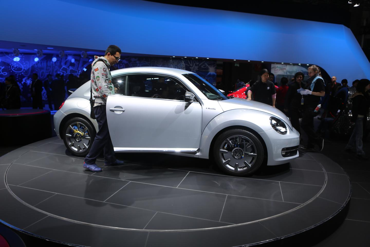 The Volkswagen iBeetle made its debut at the Shanghi Auto Show