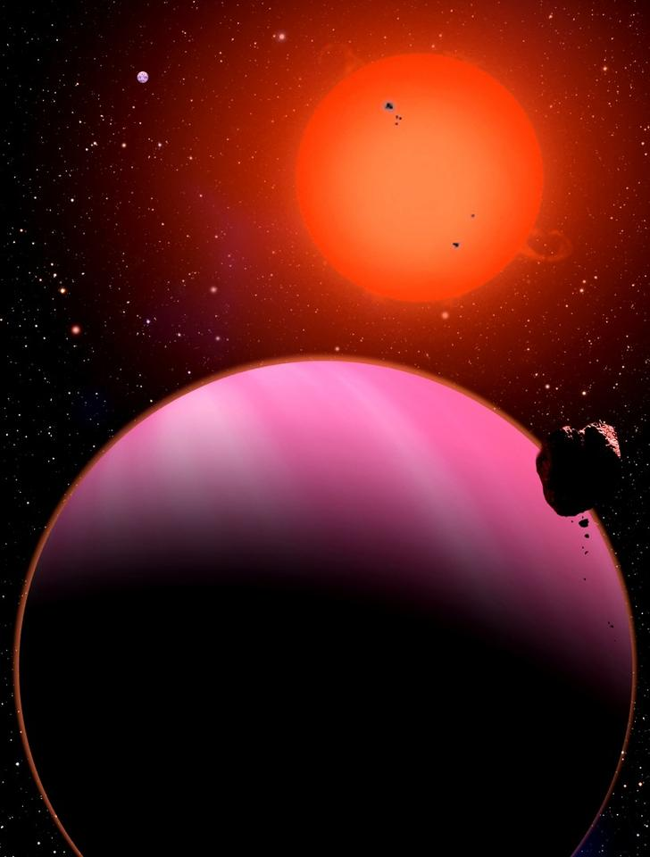 "Artist's impression of a ""Super-Neptune"" exoplanet"