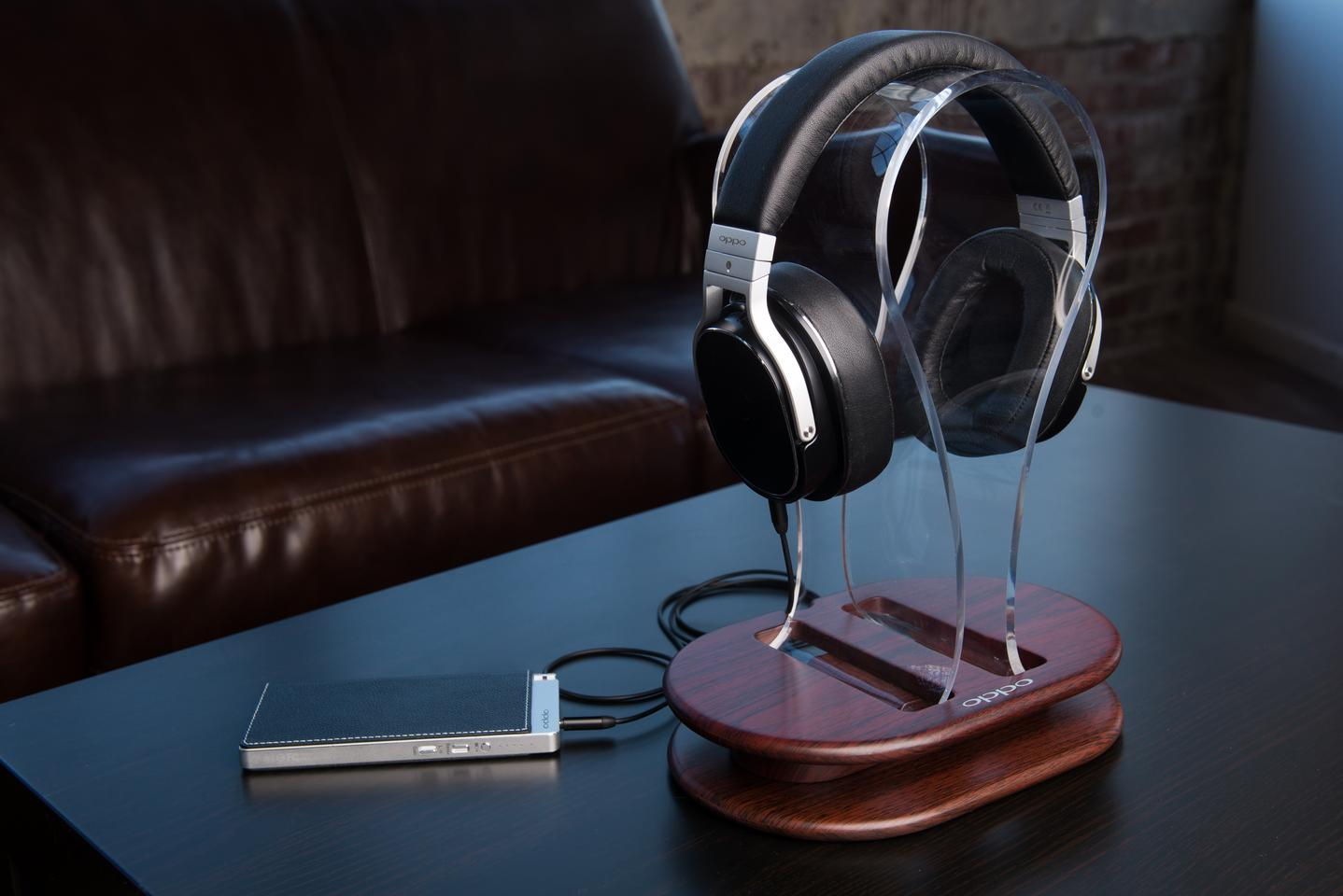 Oppo Digital's PM-3 closed-back planar magnetic headphones with the company's HA-2 portable headphone amp