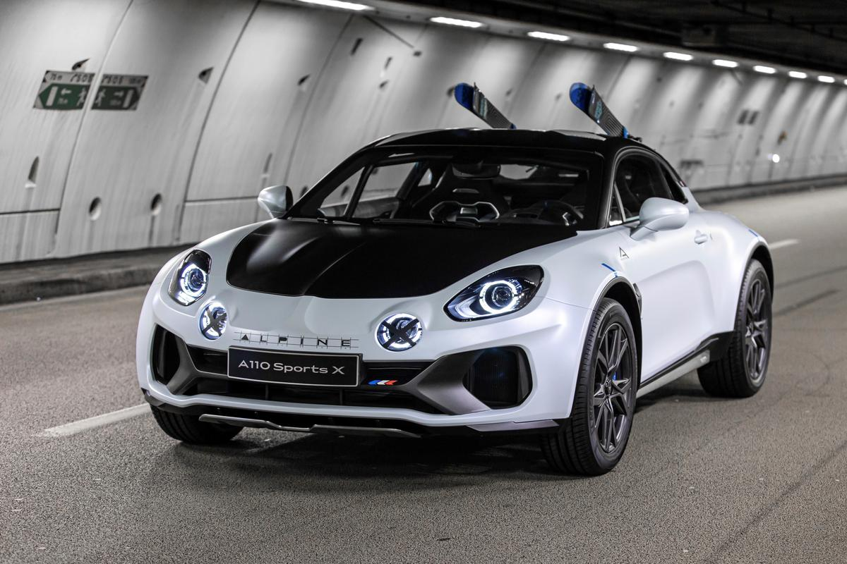 Alpine's ready-to-rumble A110 SportsX concept: there are no plans for production at this stage
