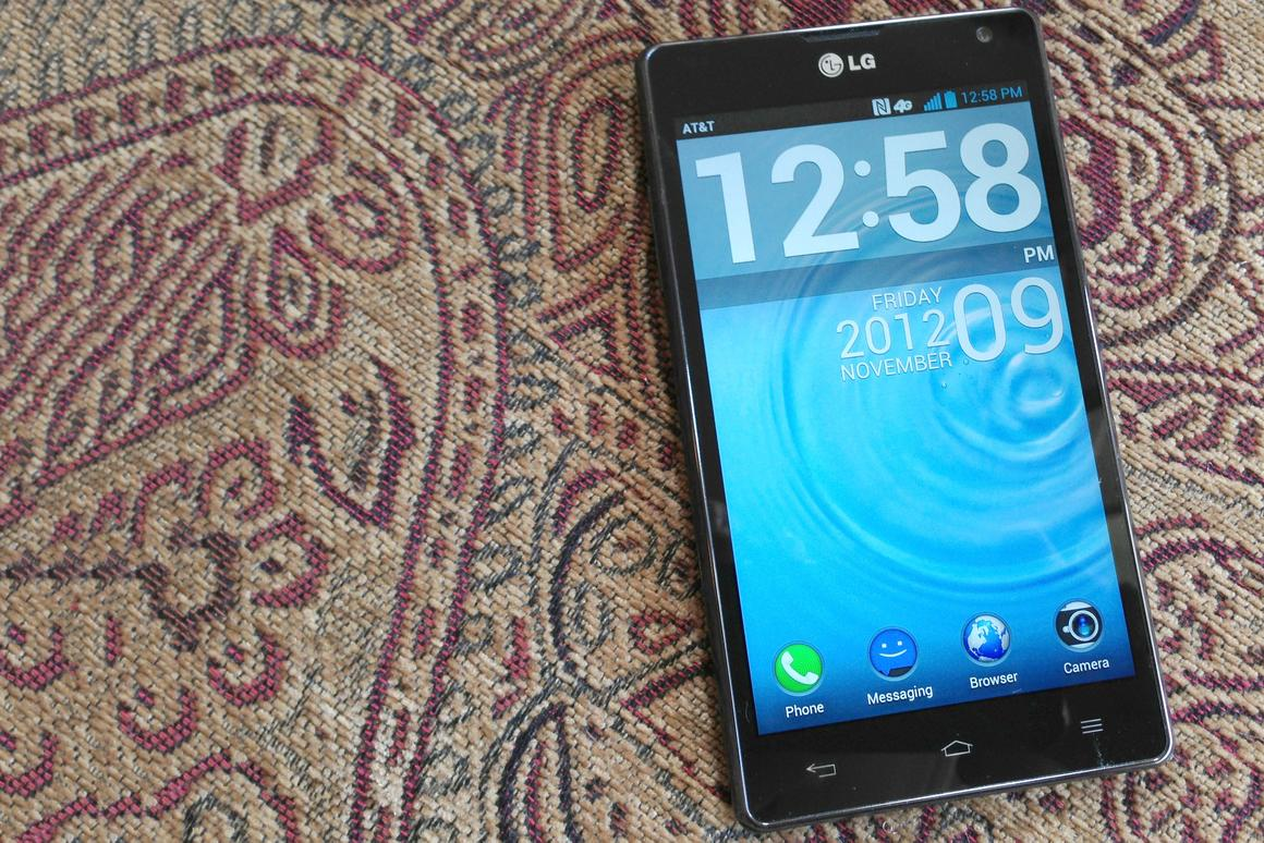Though it's huge, the Optimus G's display is gorgeous