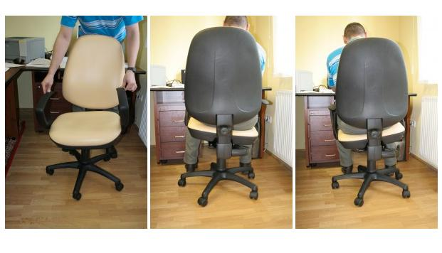 Balance King's Active Chair makes you work to keep your butt level