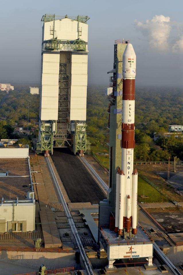 A record 104 satellites were launched aboard India's Polar Satellite Launch Vehicle (PSLV)