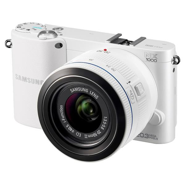 The new NX1000 mirrorless, interchangeable lens camera from Samsung