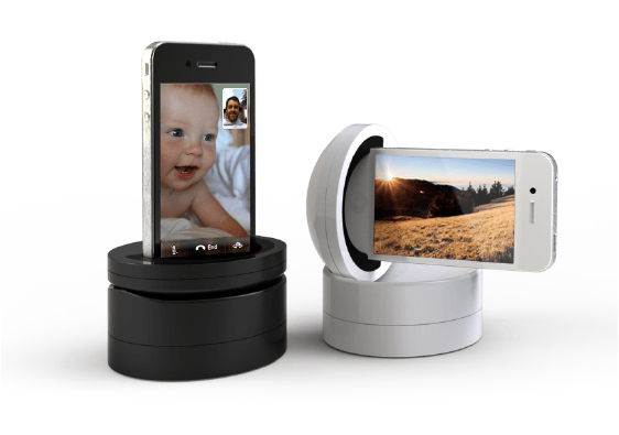 Galileo is a motorized iPhone holder, that allows the user to remotely pan and tilt the phone