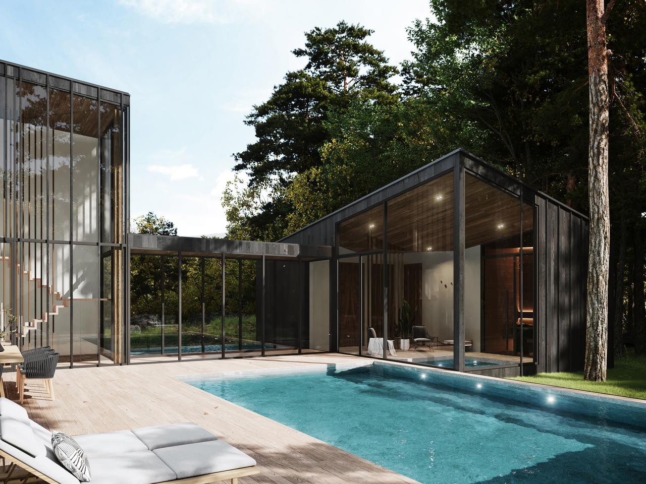 Sylvan Rock will boast a large outdoor pool and terrace area