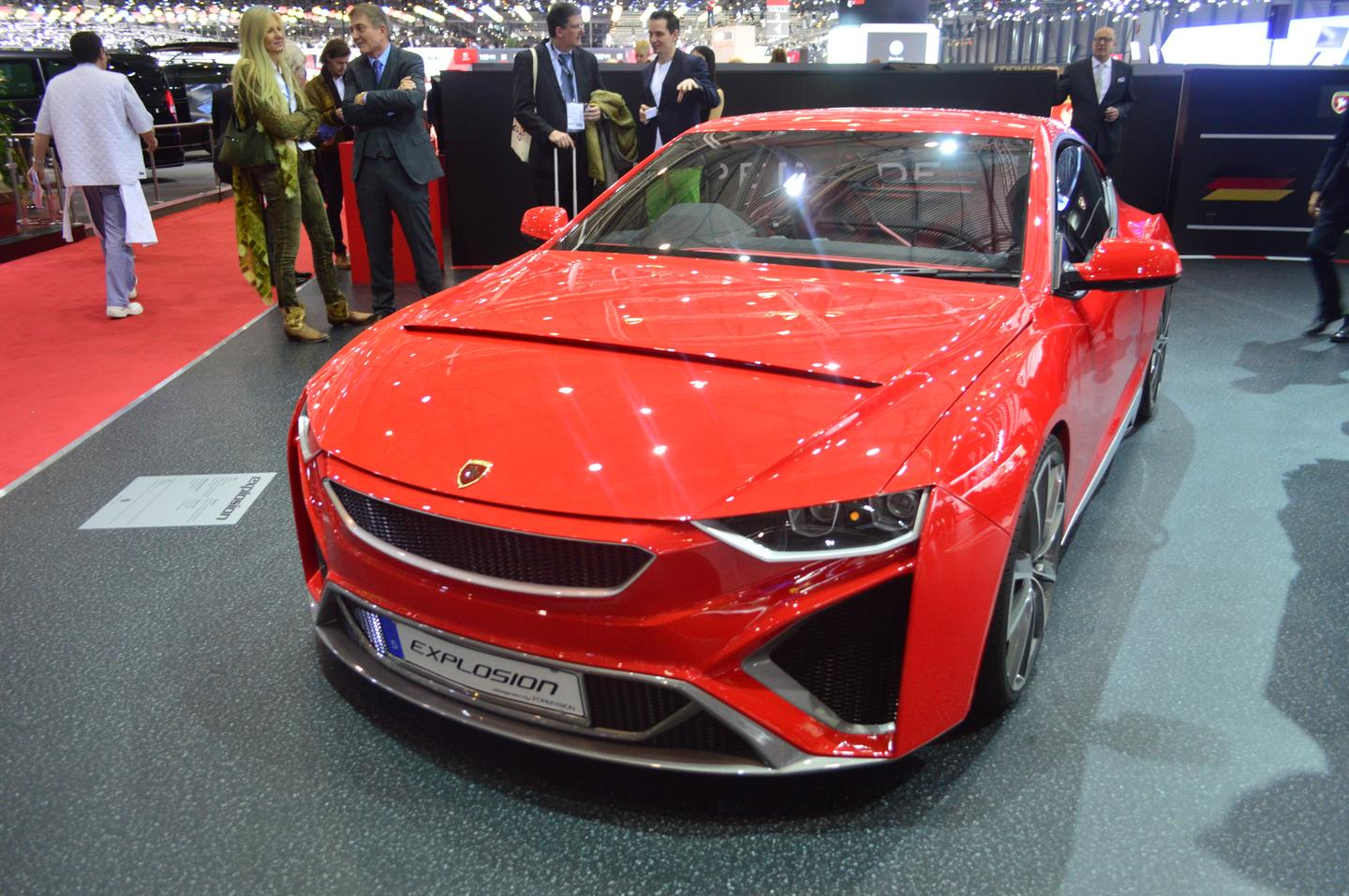 The Gumpert Explosion is powered by a 420-hp 2.0-liter engine (Photo: CC Weiss/Gizmag.com)
