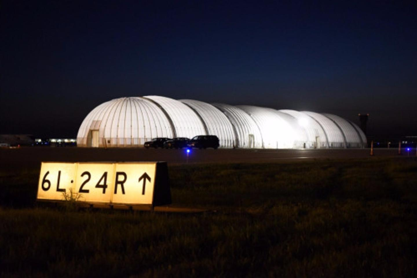 Solar Impulse 2 has been grounded temporarily after its inflatable hangar partially collapsed