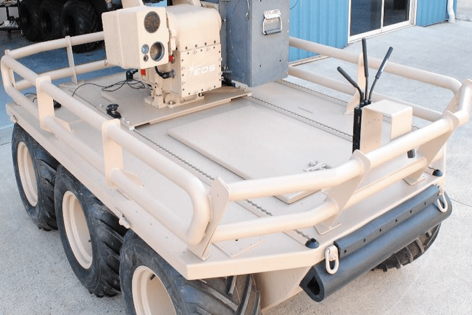 An example of one of the prototypes for Autonomous Warrior