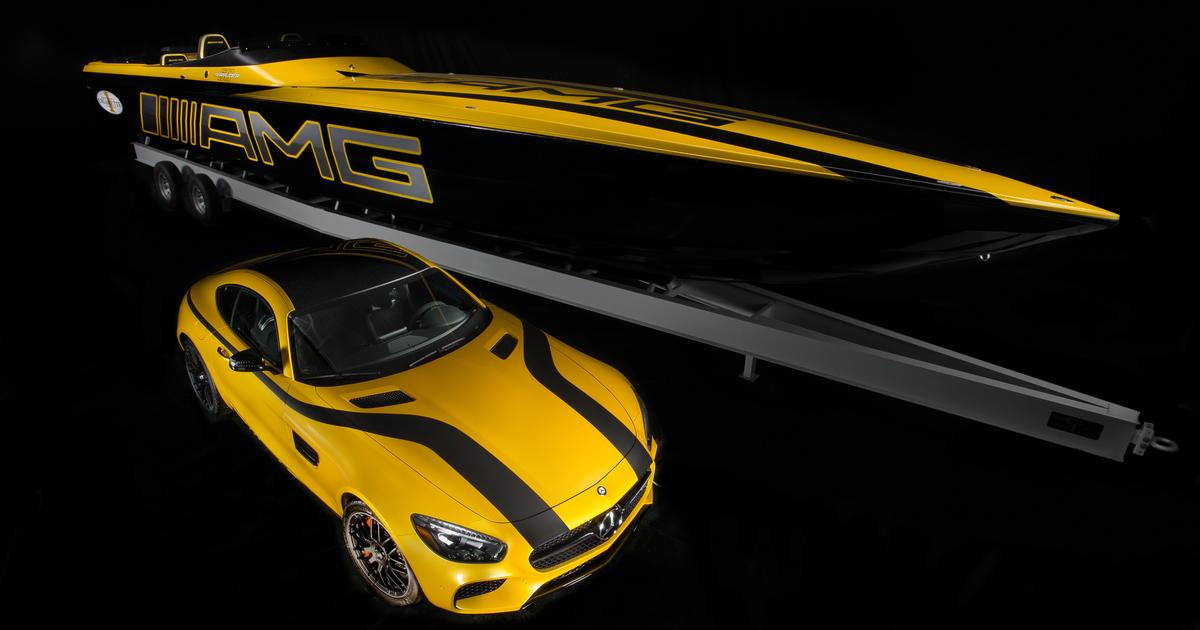 Mercedes-AMG and Cigarette Racing team up on $1.2 million GT S super boat