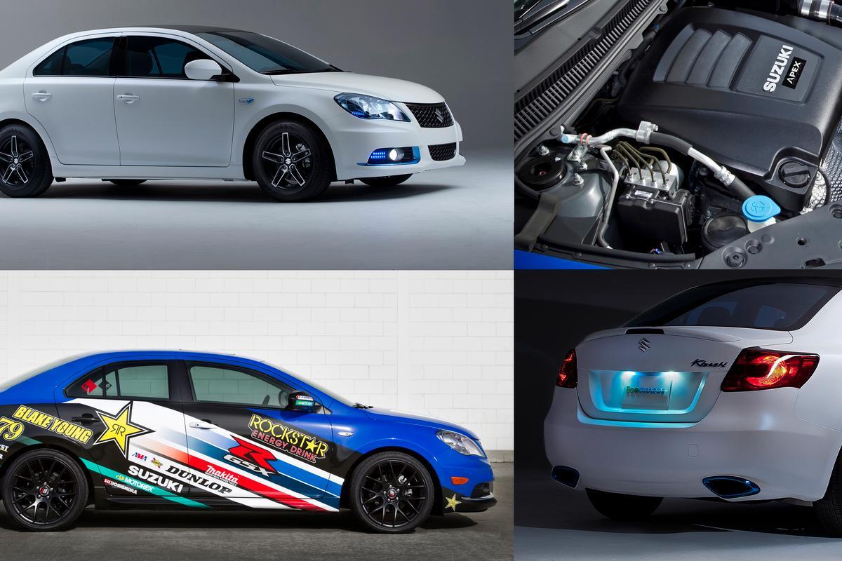 Two new Suzuki Kizashi Concepts - one frugal, one powerful