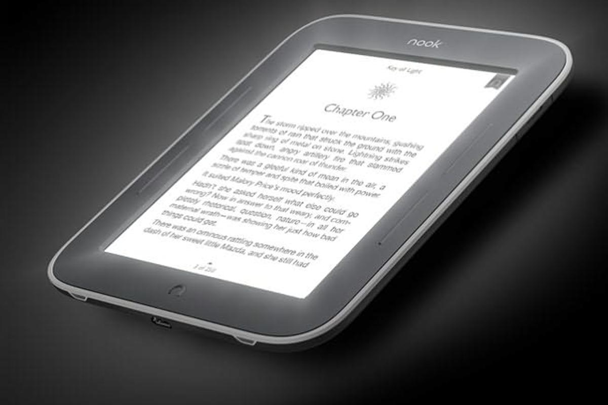 Nook Simple Touch GlowLight for reading in the dark