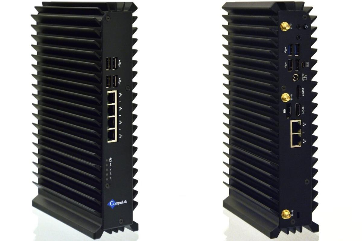 CompuLab's uSVR fanless server, front and back