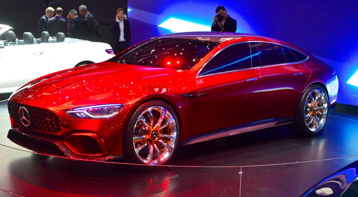 TheMercedes-AMG GTConcept makes its world premiere at the 2017 Geneva Motor Show