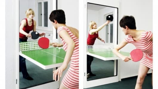The Ping Pong Door becomes the site of a table tennis battles