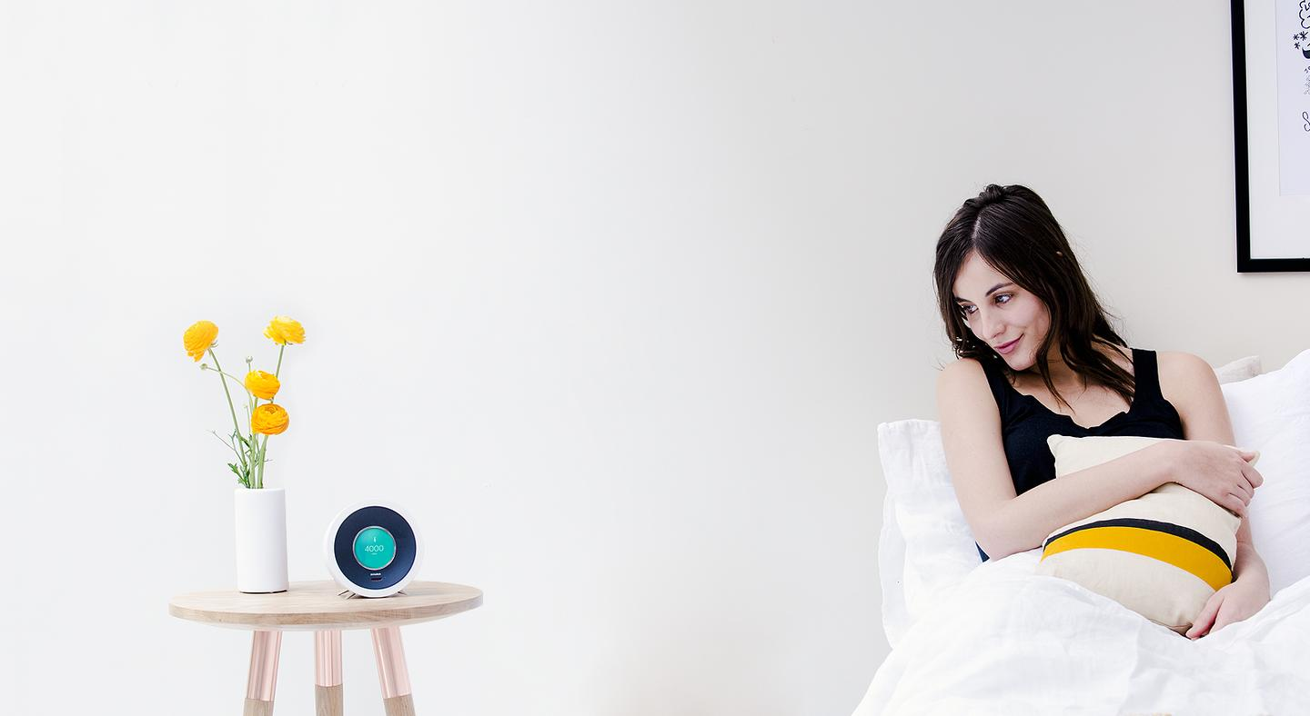The Bonjour alarm clock will learn a user's typical routine and proactively provide relevantinformation at any given time, as well as integrate with apps, fitness trackers and smart home devices
