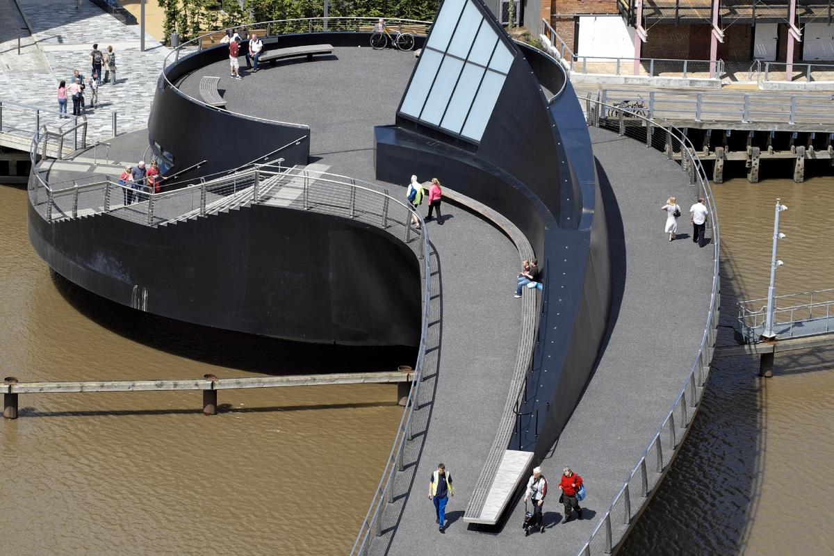 The River Hull Footbridge was completed in May of this year (Photo: Timothy Soar)