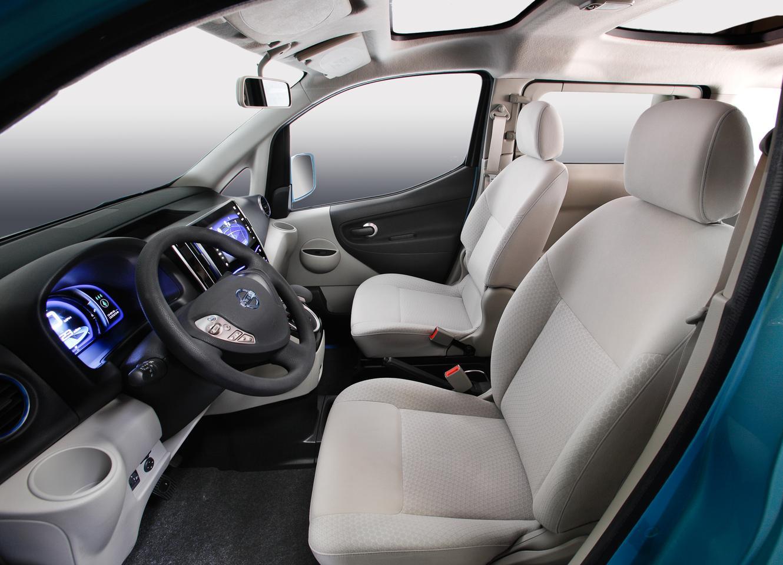 The interior of Nissan's e-NV200 concept