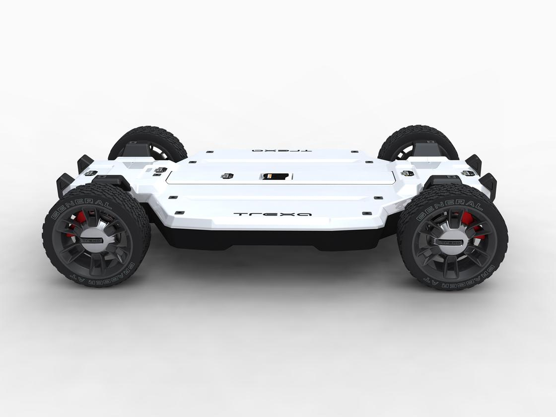 A side rendering of the TREXA vehicle development platform