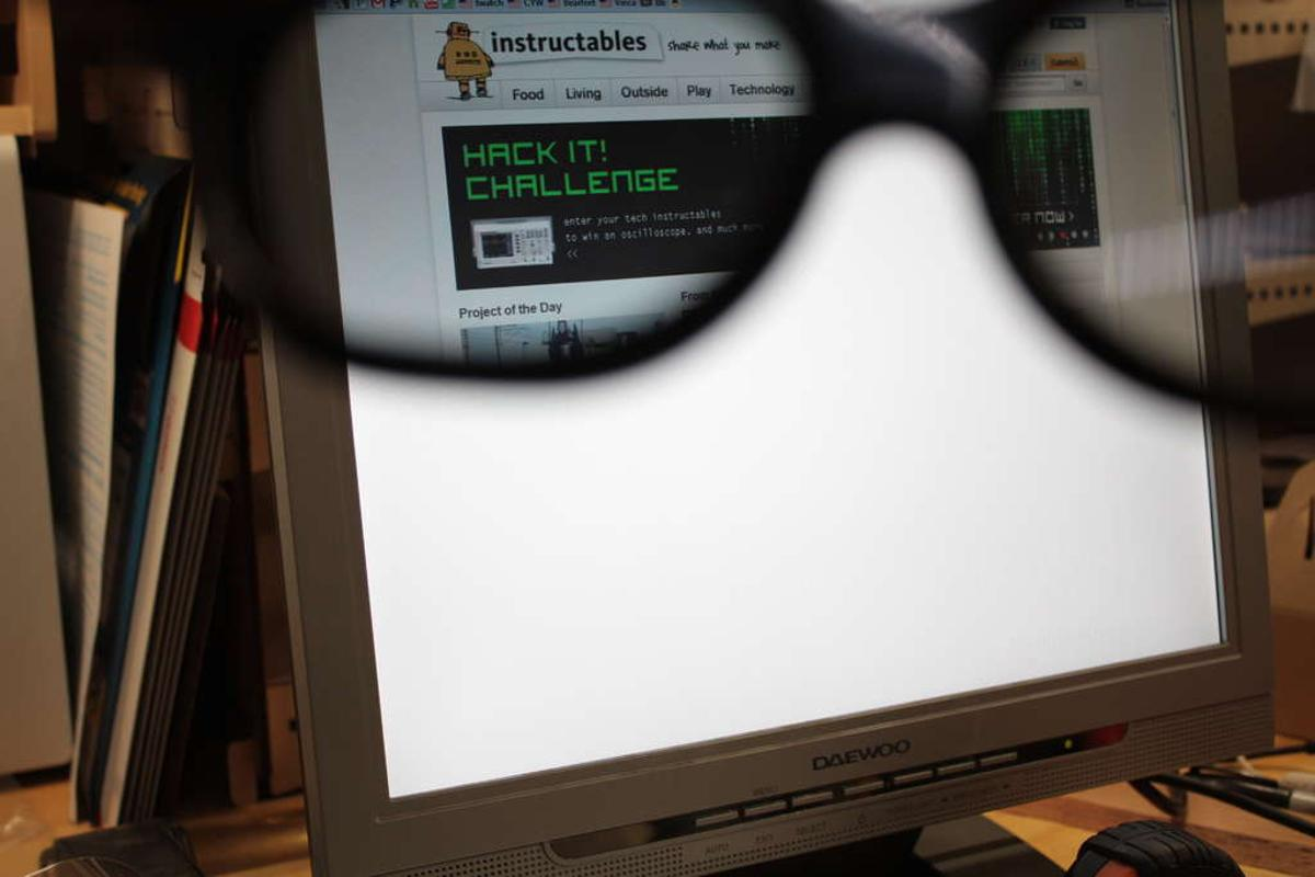By following a few simple steps, anyone can turn an old LCD into a privacy monitor with contents visible only to the person wearing a pair of special glasses