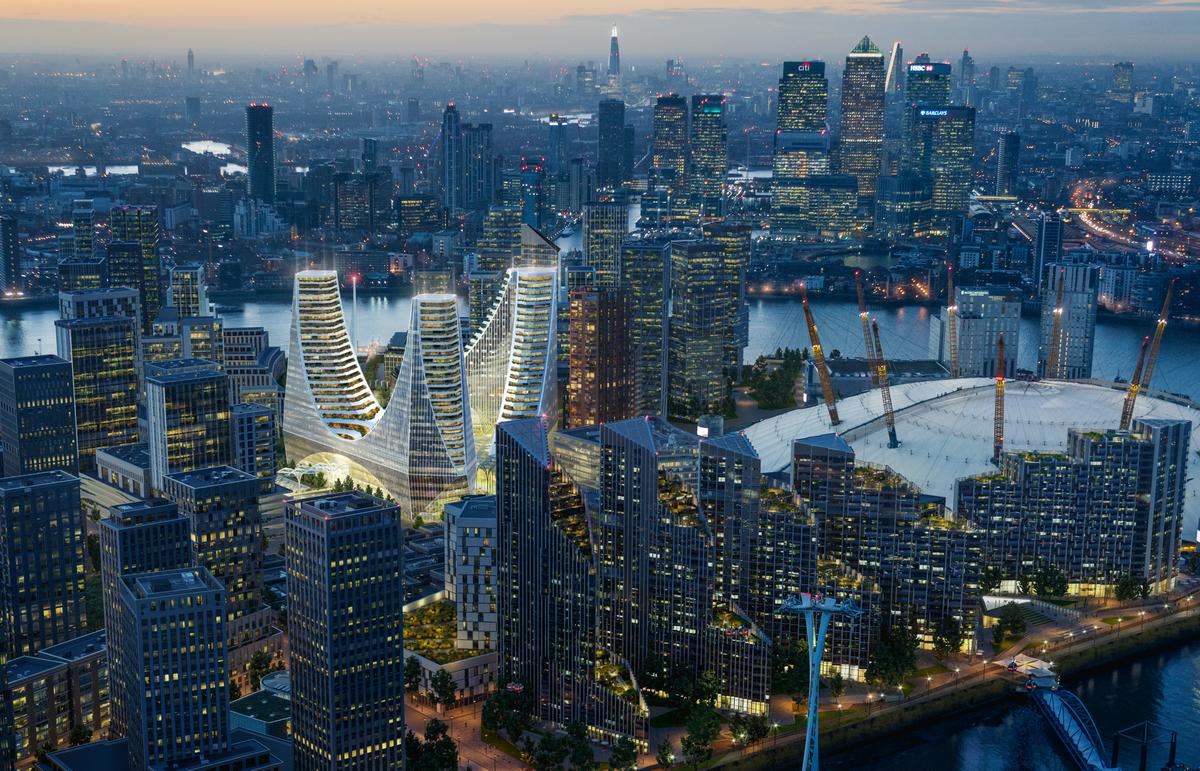 PeninsulaPlace is being developed by Knight Dragon and is part of a larger development of the Greenwich Peninsula