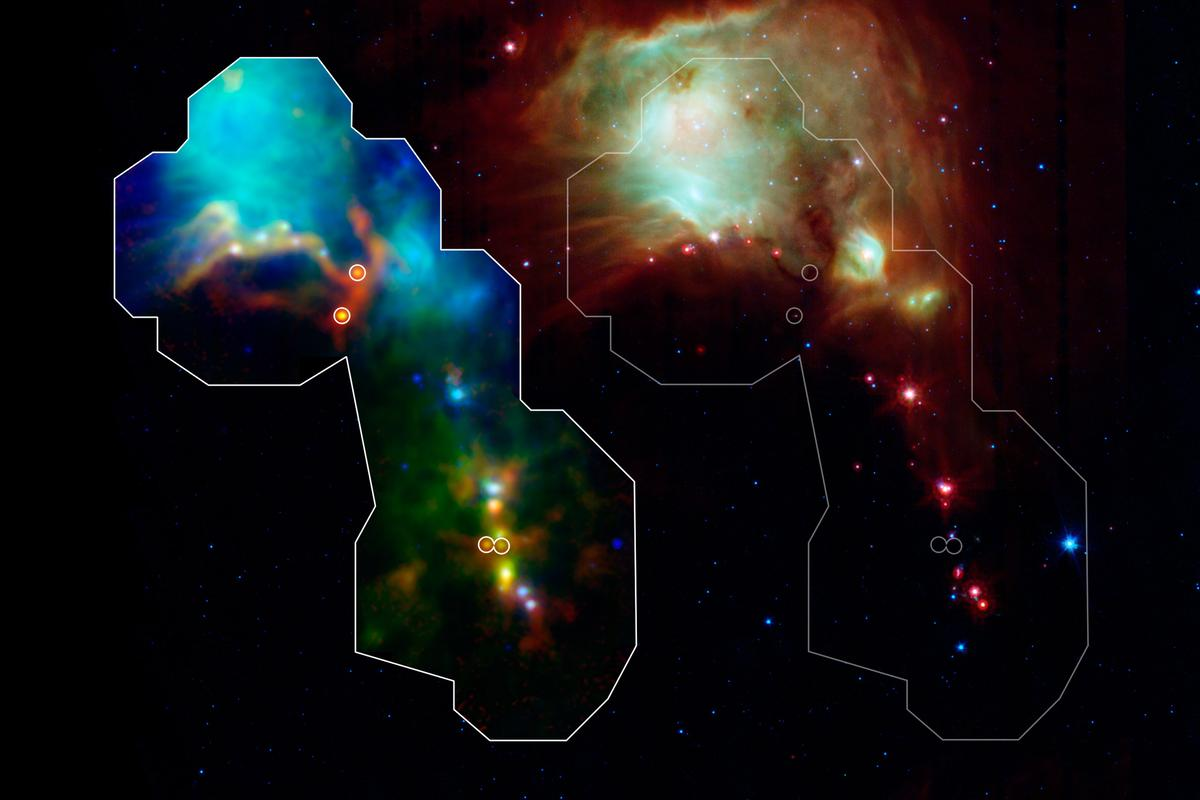 Astronomers have used the Herschel space observatory to detect a group of fledgling stars (image: NASA)