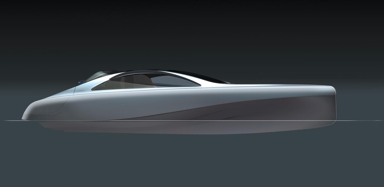 """Concept art of the """"Silver Arrow of the seas"""" (Image: Daimler Media)"""
