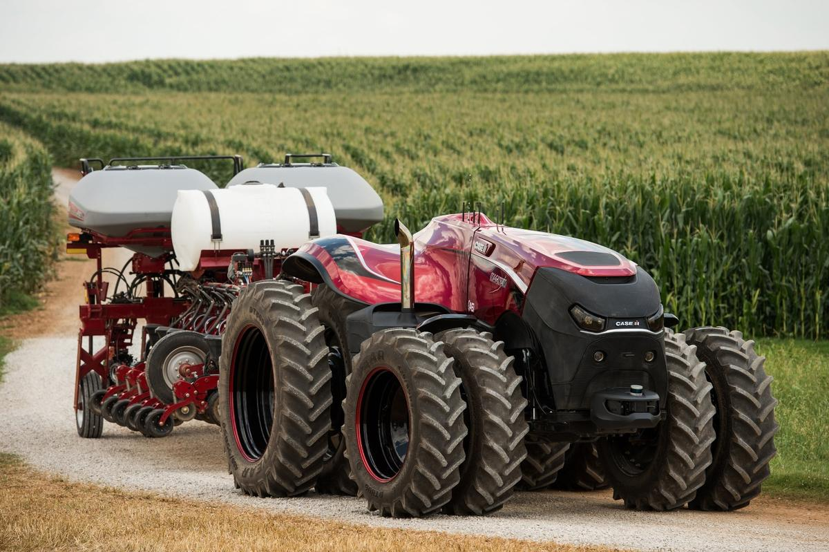 Self-driving tractorscan work day and night, through rain, hail and shine