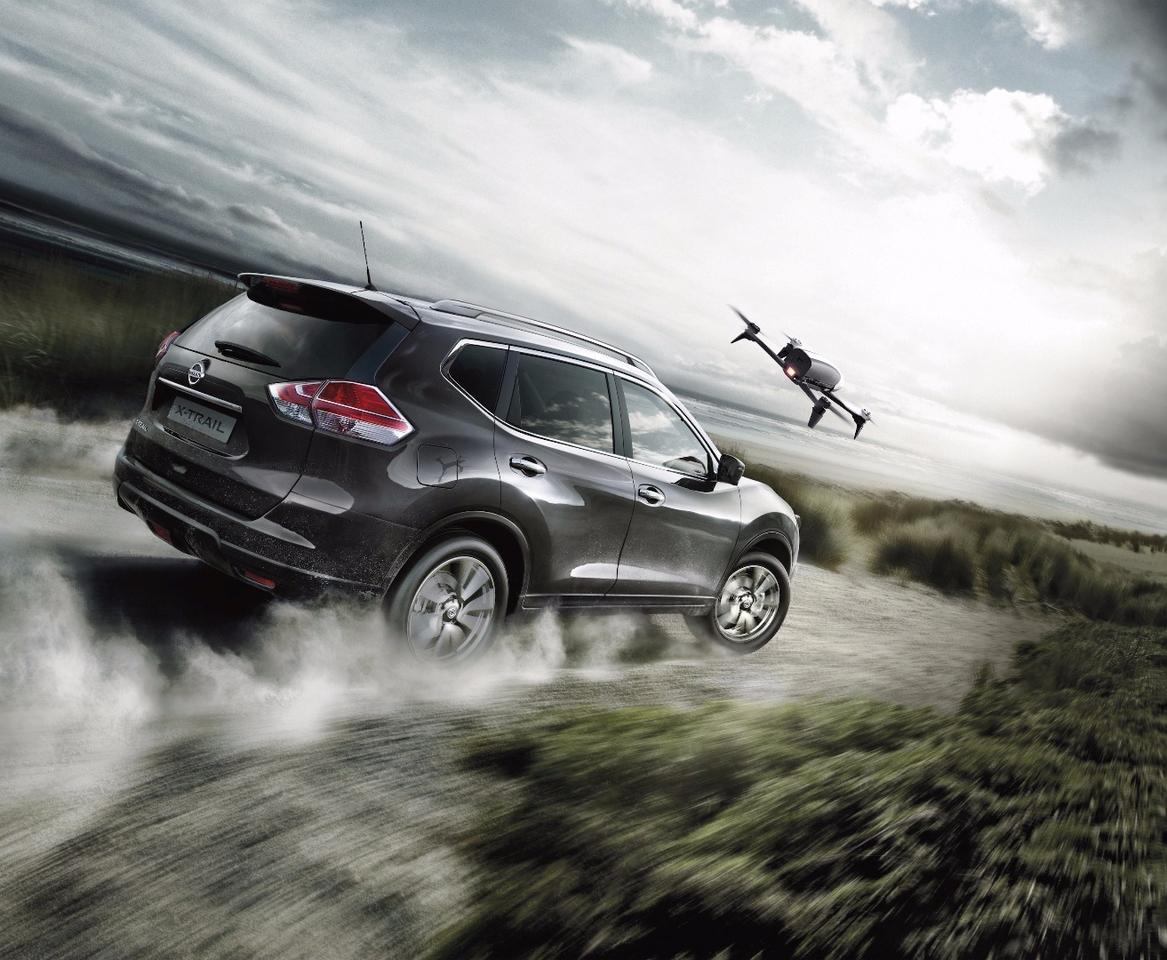The NissanX-Trail X-Scape, complete with ParrotBebop2 drone