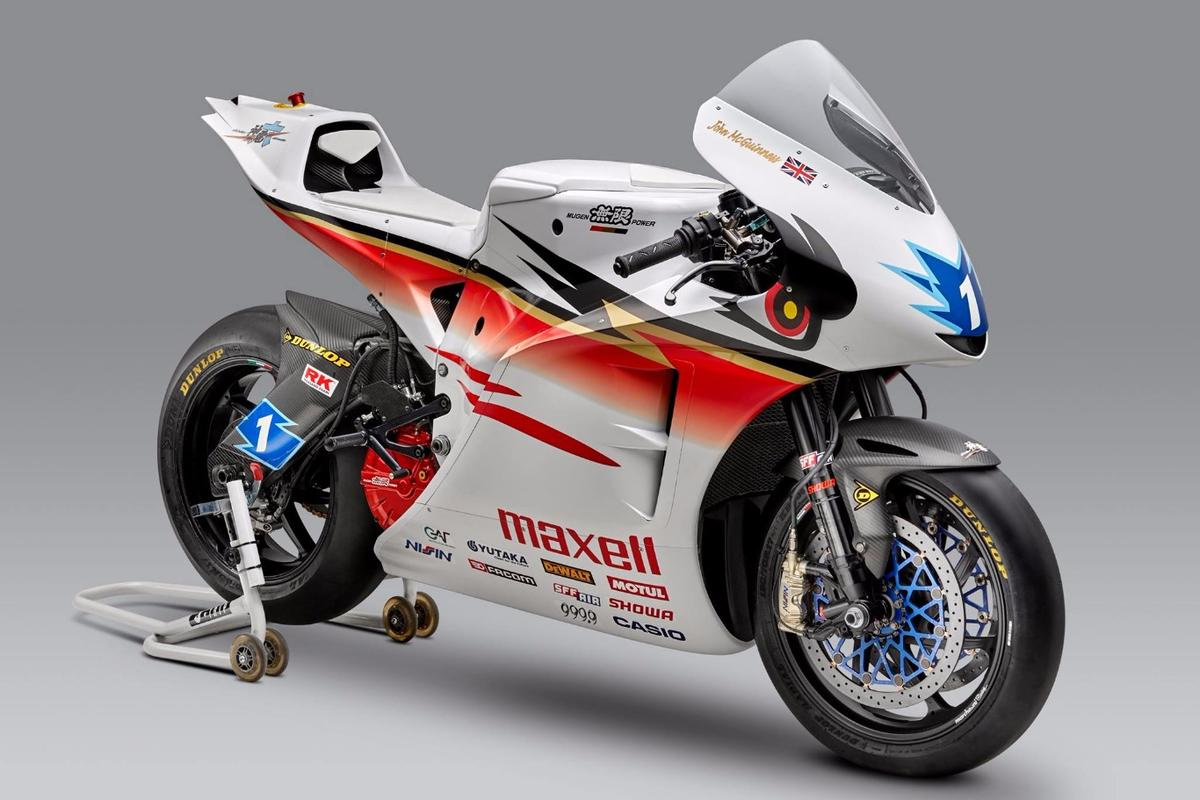 The sixth version of Mugen's TT Zero electric racer is the Shinden Roku
