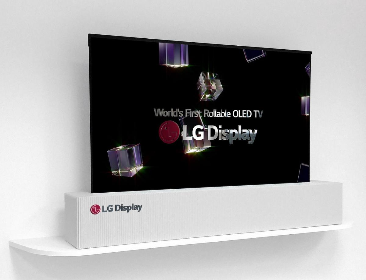 LG's rollable OLED TV boasts a 65-inch screen when fully unfurled