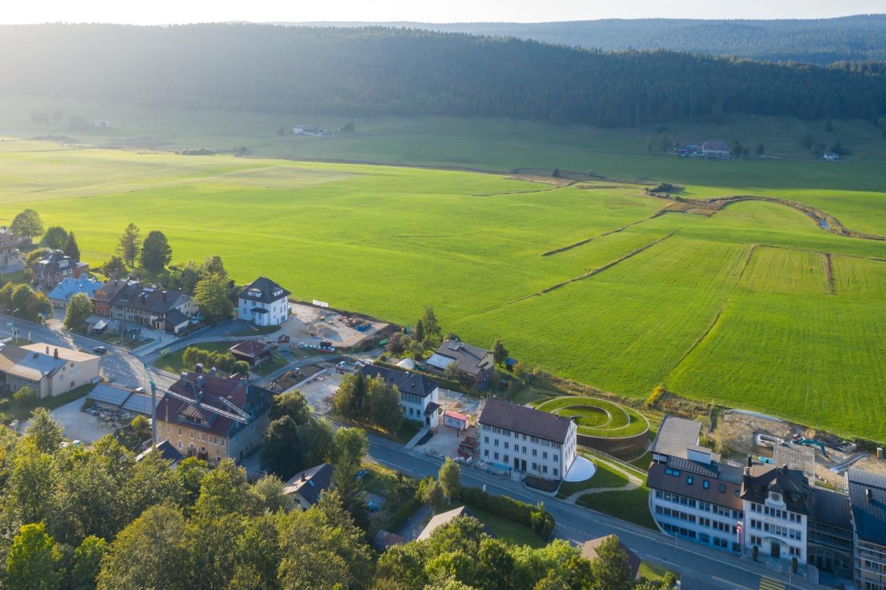 Musée Atelier Audemars Piguet's green roof helps it blend into the beautiful Swiss landscape
